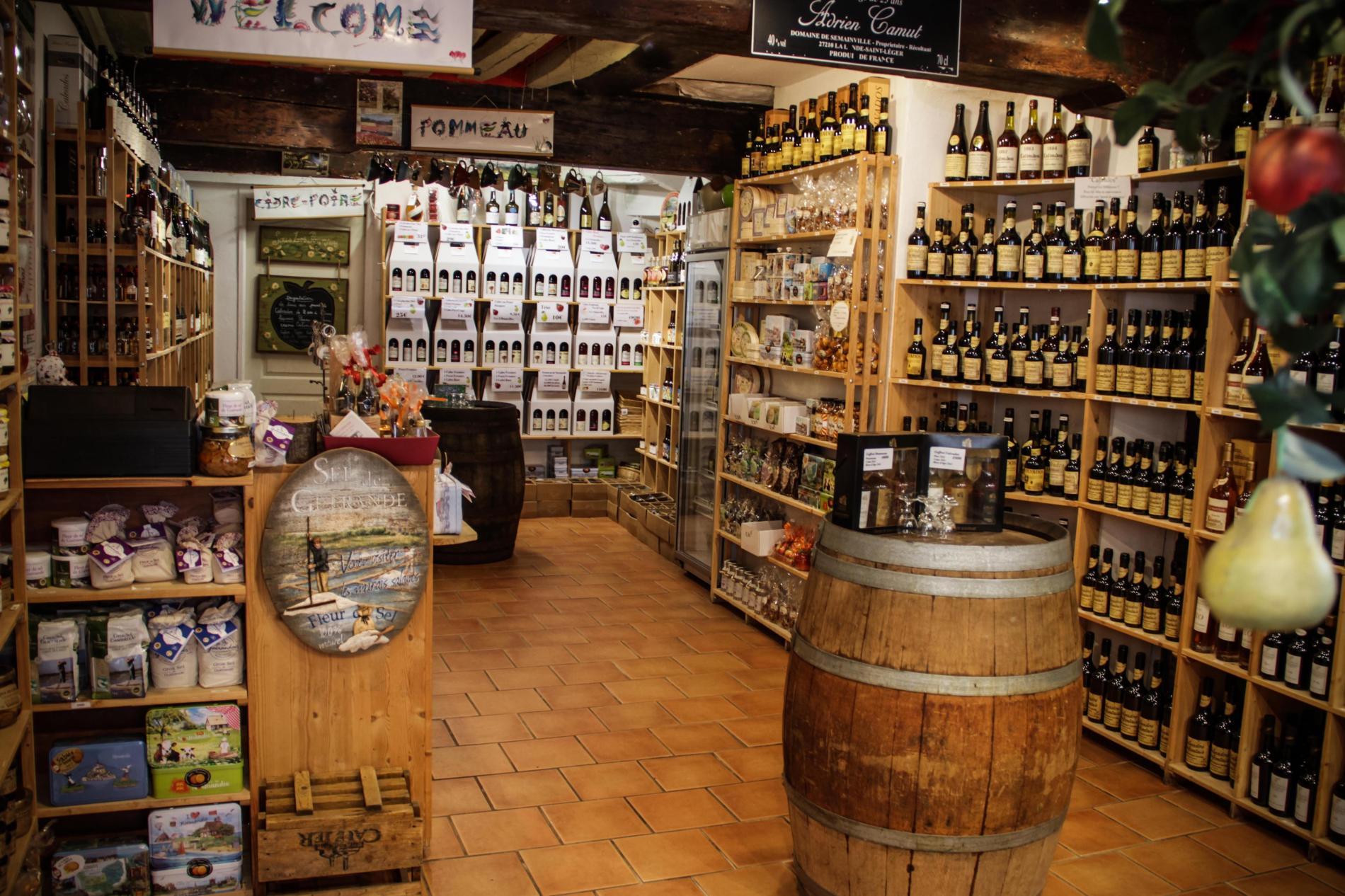 Vente de produits régionaux à Honfleur