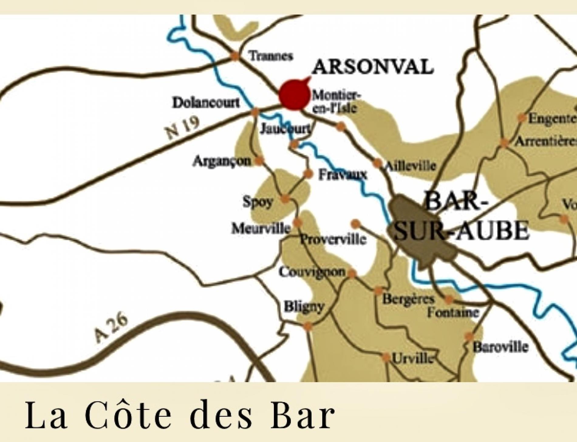 La côte des bars et la route de champagne