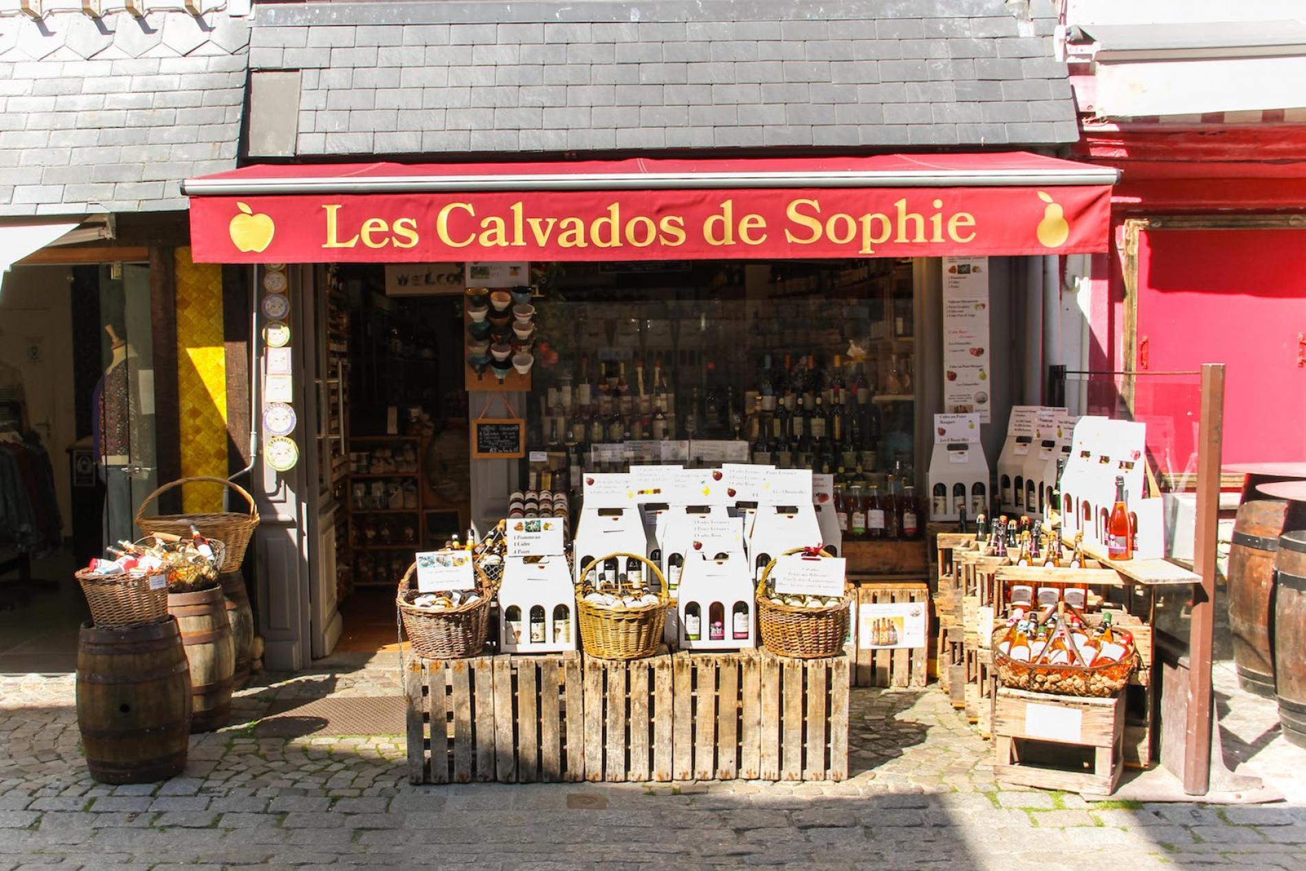 Calvados, cidres, poirés à Honfleur