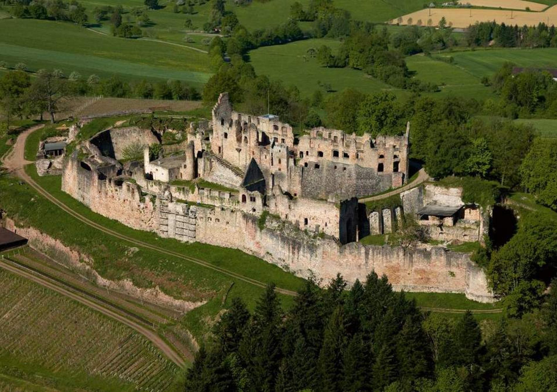 Le château fort de Hochburg proche de Freiburg
