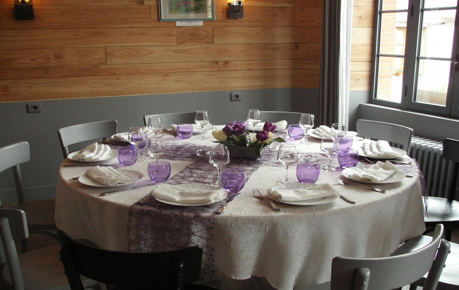 Table privatisée au salon