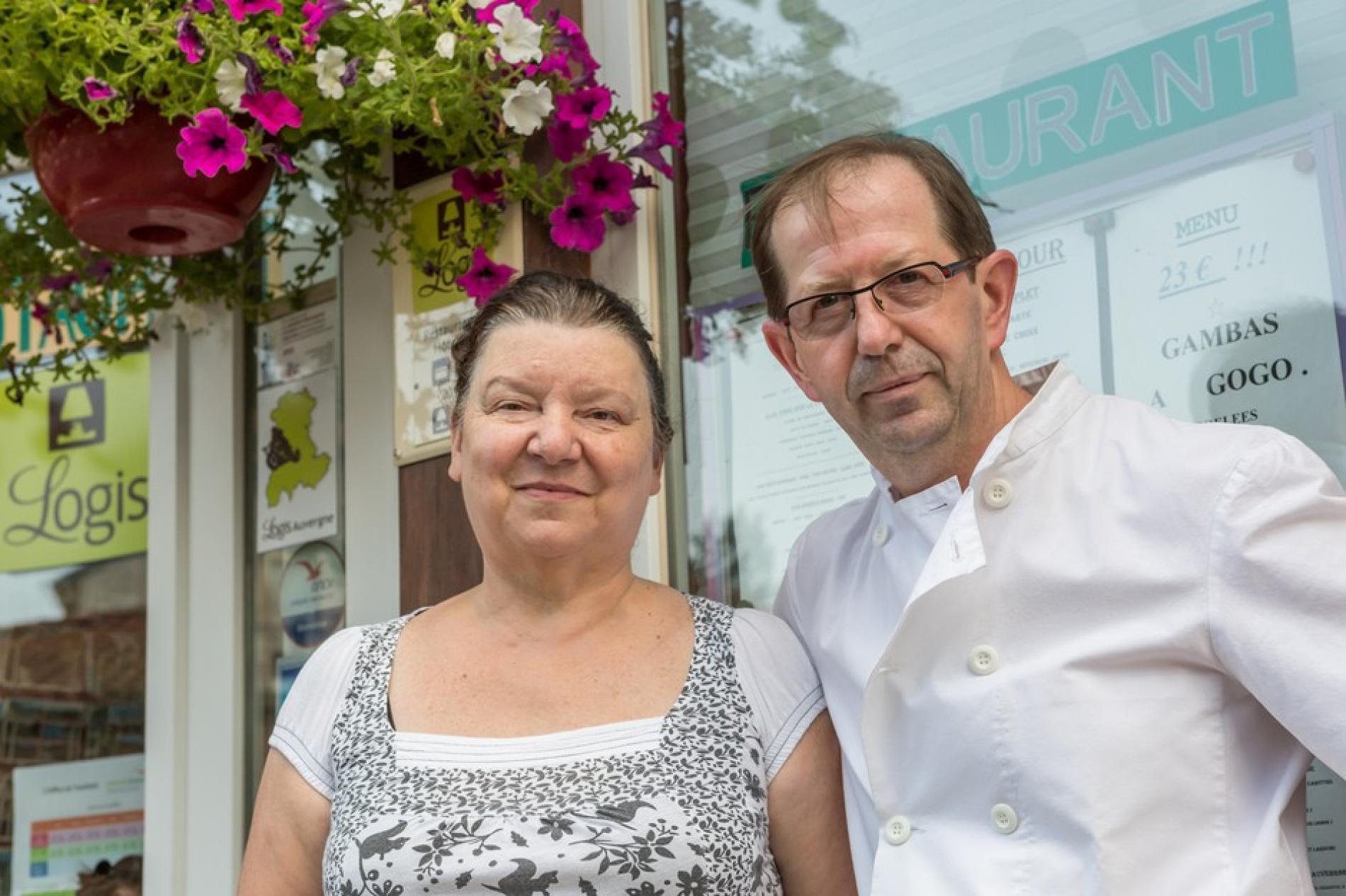 Michelle et Philippe Soulier propriétaire exploitant de L'Hotel le Clair Logis