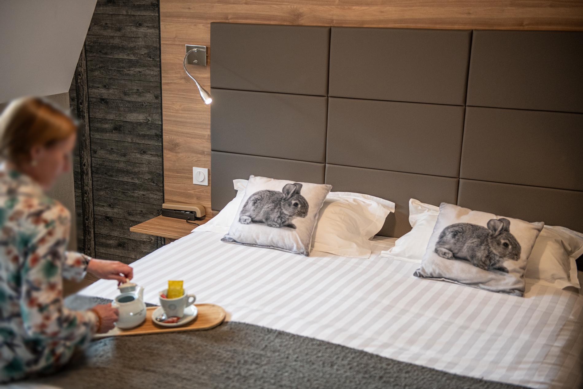 Chambre confort de l'hôtel Les Coudercous