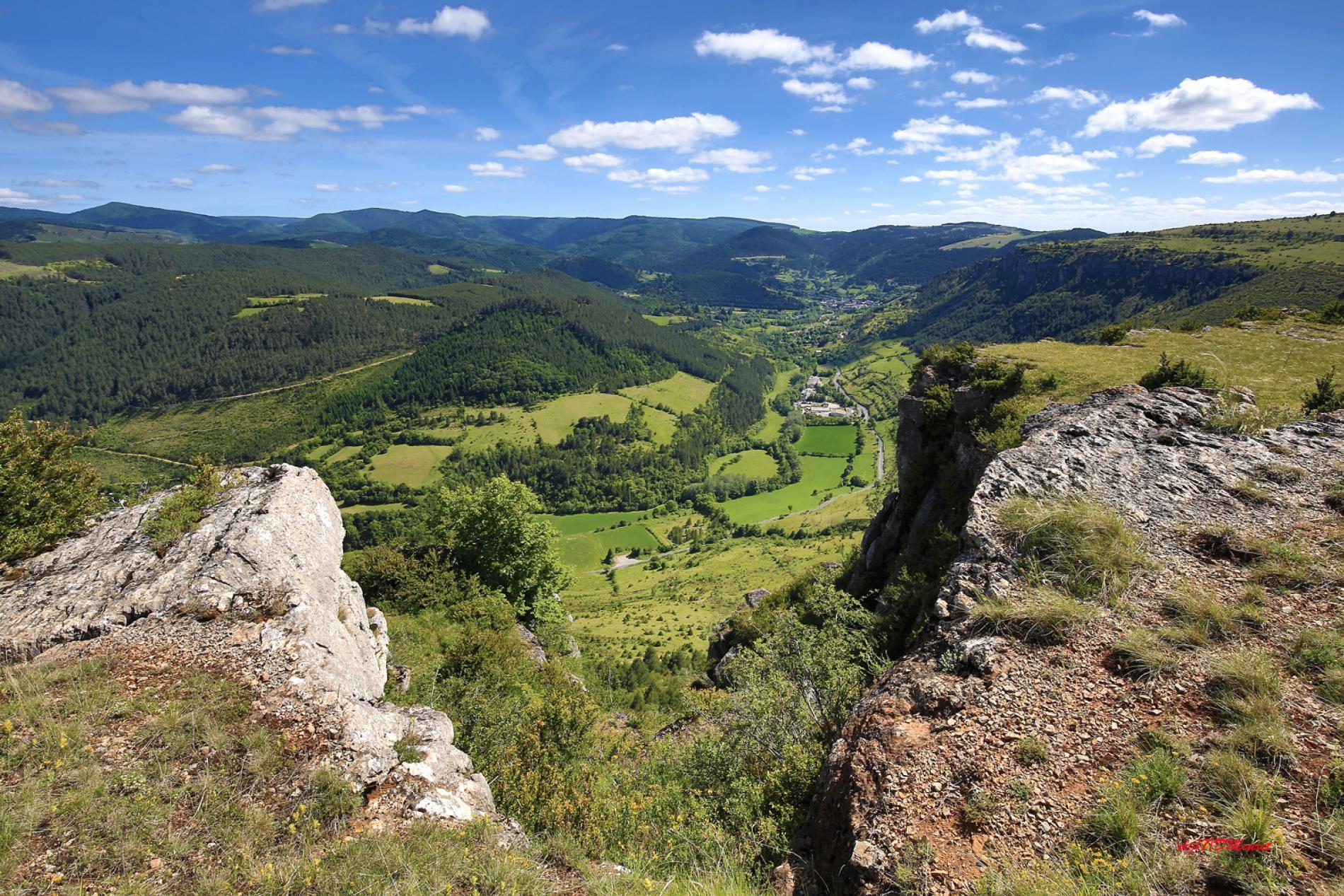 Le village de Meyrueis au cœur du Parc National de Cévennes