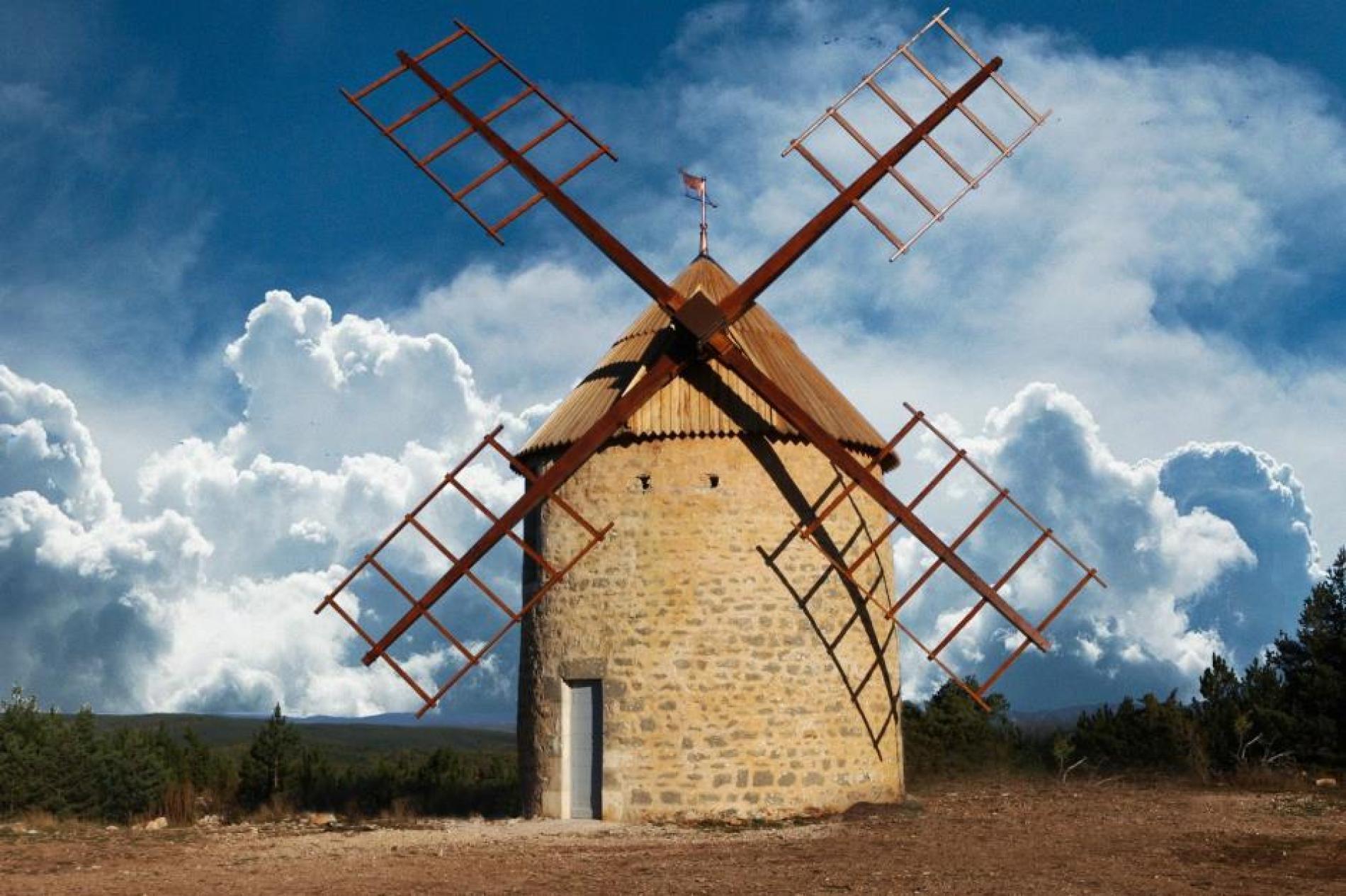Le moulin à vente de la Borie
