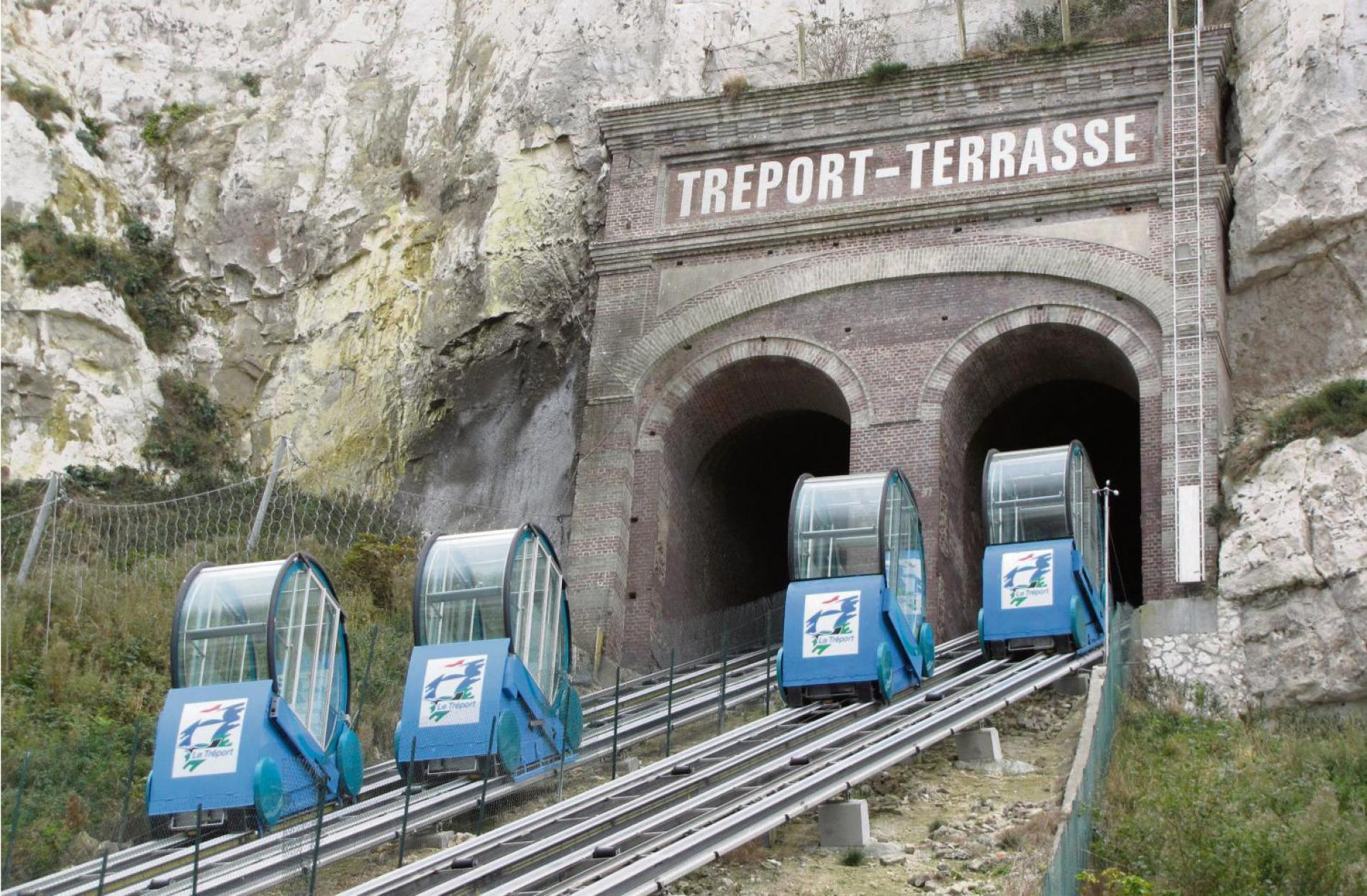 The Tréport and the funicular