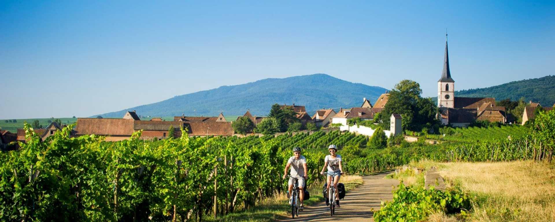 Cartes interactives des itinéraires cyclables en Alsace